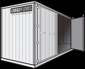 contenedor de costado abierto