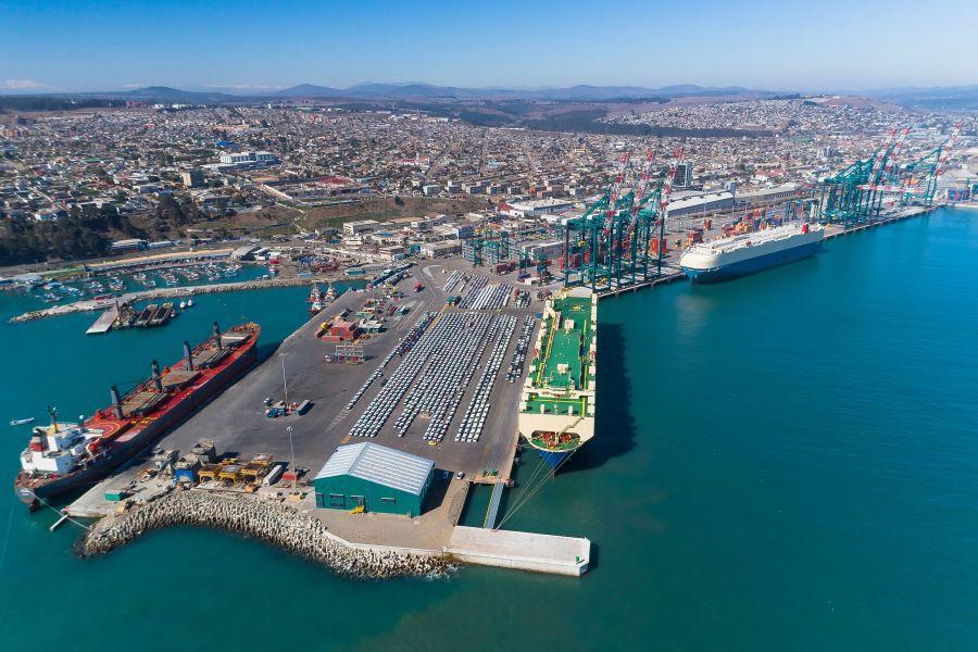 Vista del Puerto San Antonio Chile